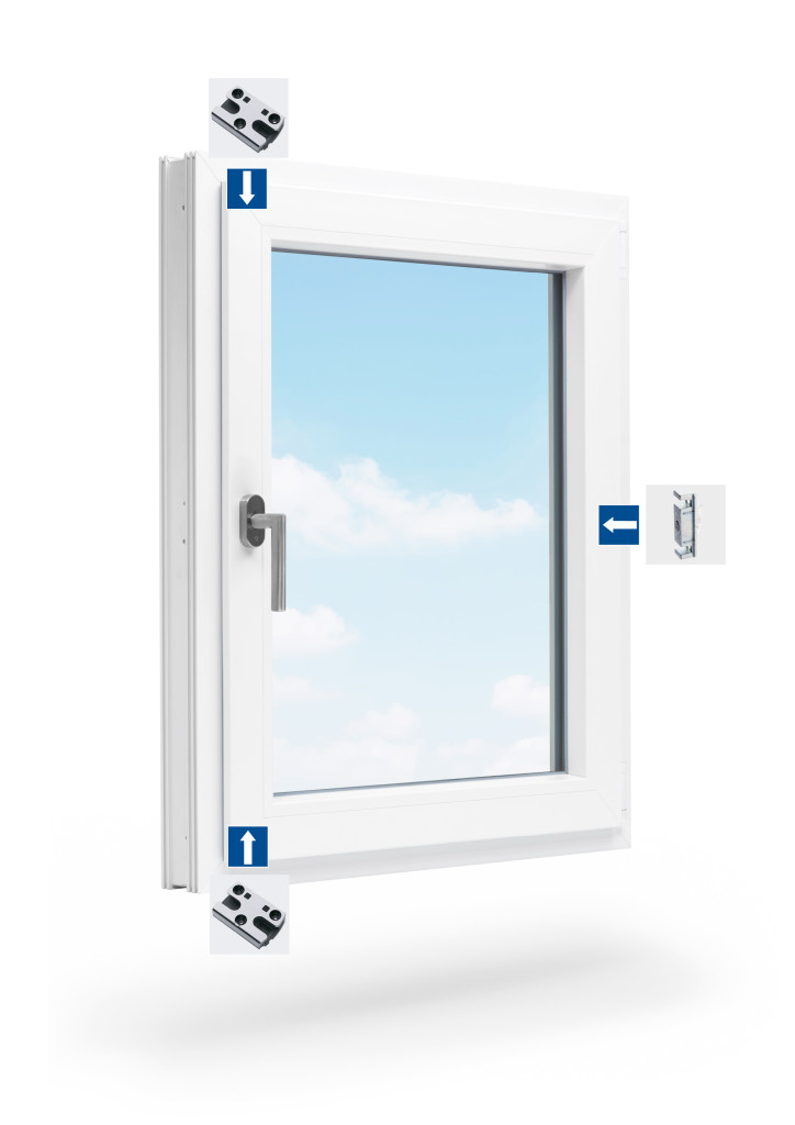 rozmieszczenie zaczepów w oknie rozwiernym