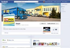 Widok naszej strony na Facebooku