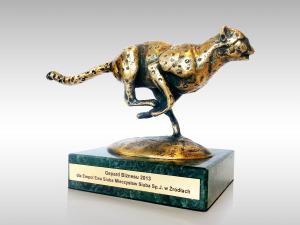 gepardy biznesu statuetka